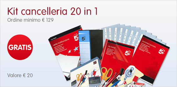 kit cancelleria 20 in 1