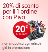 Sconto 20% per il primo ordine P.iva