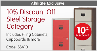 10% Discount Off Steel Storage Category