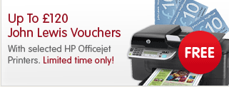 Free John Lewis Vouchers with HP Officejet Printers