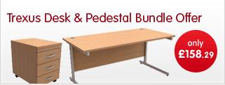 Trexus Desk & Pedestal bundle offer