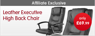 Leather Executive High Back Chair for only £69.99