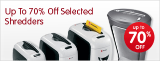Up to 70% off selected shredders
