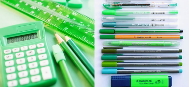 Use green office stationery